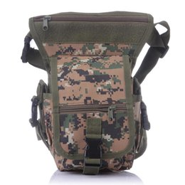 Soccer Legs Canada - New Outdoor Bike Motorcycle Cycling Tactical Bags Camouflage Oxford Cloth Thigh Packs Waistbags Belt Drop Leg Bag Outdoor Pockets
