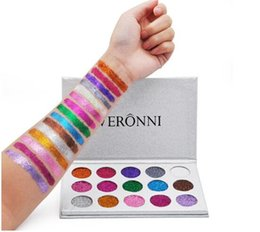 veronni eyeshadow NZ - VERONNI Professional 15 Colors Glitters Eyeshadow Diamond Rainbow Make Up Cosmetic Pressed Glitters Eye shadow Magnet Palette