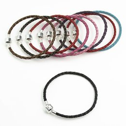 $enCountryForm.capitalKeyWord UK - Brand Bracelet Classic style DIY Braided Leather Buckle Chain18cm 19cm 20cm Fit European Charm Beads Jewelry Accessories with logo