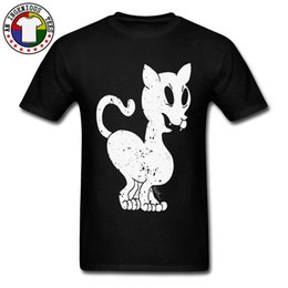 stamp t shirts Australia - Black Funny Cool T-Shirts For Men Devil Cat Stamp 100% Organic Cotton T Shirt Oversized Fashion Sweatshirt Drop Shipping