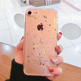 Wholesale cases for iphone 5s resale online - Phone Cases For iPhone X S Plus S SE Shinning Glitter Star Case Bling Love Heart Soft TPU Back Cover Case