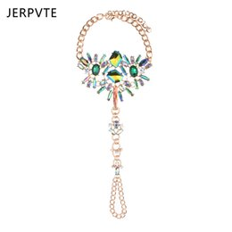 China JERPVTE 1 Piece Sexy Summer Statement Jewelry Hot Sale Bohemian Crystal Anklets Bracelets Leg Chain For Women cheap hot anklets legs suppliers