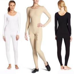 7d51129aa06 Adult Women Full Body Ballet Dance Unitard Long Sleeve Black Nude Leotard  Spandex Lycra Ballet Bodytights Dance Bodysuit