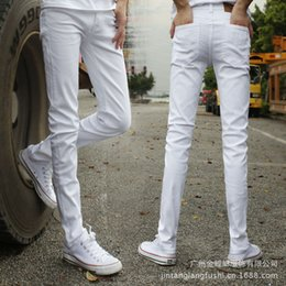 $enCountryForm.capitalKeyWord Canada - high Quality 2018 indoor Teenagers Men's Stretch Jeans White Boy Men's Casual Pants Skinny Teenagers Cow Boy Denim Long Trousers