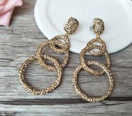 Tridacna beads online shopping - Natural White Coral Dangle Earrings Paved Golden Crystal Rhinestone tridacna shell Beads Handmade fashion women Jewelry ER241