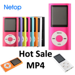 Mp4 player 16 online shopping - Netop Hot Sale Slim LCD MP4 Music Player Support GB To GB TF Card Slot Free DHL Shipping