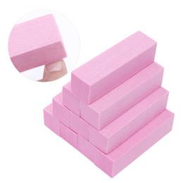 White Sanding Block Australia - Pink White Nail Files Set Sanding Sponge Nails Buffers Block Grinding Polishing Manicure Nail Art Tools Kit Accessory 4Pcs 10Pcs D18111404