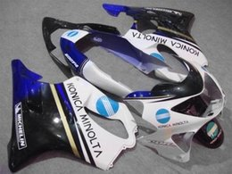 Discount honda cbr f4 fairing sets - Injection mold Fairing kit for HONDA CBR600F4 99 00 CBR600 F4 1999 2000 CBR 600 ABS White blue black Fairings set+7gifts