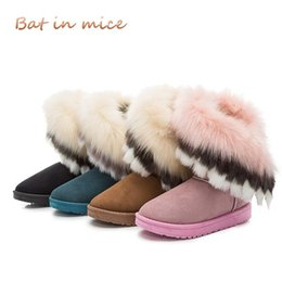 $enCountryForm.capitalKeyWord Canada - 2018 winter new women boots casual rabbit fur warm flats boots women fashion lady snow boots shoes women Mujer 4 colors A100