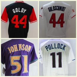 43b811875 2018 Arizona Stitched Men Flexbase 44 Paul Goldschmidt GOLDY 51 Randy  Johnson 11 A. J.Pollock Baseball Jerseys M-3XL