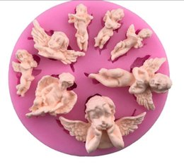 Wholesale Super Cavity Fairy Angel Baby Silicone Mold Angelic Cherub with Wings Silicone Mold for Cake Fondant Chocolate Polymer Clay Molds