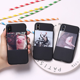 $enCountryForm.capitalKeyWord NZ - Cute Piggy Pig Dog Puppy Cartoon Funny Lover Relax Soft TPU Silicone Candy Case Coque For iPhone 6 6S 5 5S SE 8 8Plus X 7 7Plus