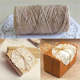 $enCountryForm.capitalKeyWord NZ - 1x Roll Hot 33M DIY Packing Crafting Rope Jute Twine Box Wrapping Packaging Cord Durable And Convenient To Use On Sale