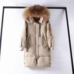 $enCountryForm.capitalKeyWord Canada - Large Real Natural Raccoon Fur 2018 New Winter Coat Women Hooded Long Thick Warm Parka White Duck Down Jacket Female Down Coat S18101306