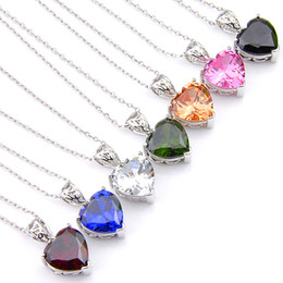 Colourful pendant neCklaCe online shopping - Luckyshine new arrive style sterling silver plated fashion colourful pendant for women piece P0135