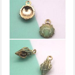 Sea Shell StarfiSh online shopping - 10pcs Sea theme Charm Oil Drop Zinc Alloy Colourful conch shell starfish enamel Charm