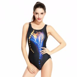 China 2018 Professional Competitive Swimwear Women High Leg Cut Digital Printing Swimsuit Sport Swimming One-Piece Suits suppliers