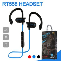 Wholesale Bluetooth Headphones RT558 Sweatproof Wireless Earbuds Running Bass HiFi Stereo In Ear Earphones Noise Cancelling Headsets With Package