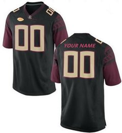 Chinese  Custom Florida State Seminoles Football FSU white red black Stitched Any Name Number Jersey #23 Akers 12 Deondre Francois 1 James Blackman manufacturers