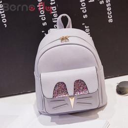 3fe94d98f2fa Berno Fly korean Style Women Backpacks Fashion PU Leather Lady Small  Backpack High Quality Girls School Bag Cartoon Travel bags
