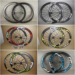 $enCountryForm.capitalKeyWord Australia - 700c 3K Matte 23mm width Clincher FFWD F5R 50mm carbon wheels road bike wheelset with Blue logo Novatec A271 hubs free shipping