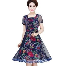 003818a5d2609d 2018 neueste Art und Weise Maxi langes Kleid-Frauen elegante Kurzhülse Tüll-Gaze-Blumen-Blumenkleid  reizvolle elegante Weinlese lang