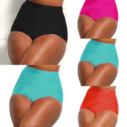 $enCountryForm.capitalKeyWord Canada - Female Solid Ladies Plus Size High Waisted Bikini Tankini Bottoms Swim Briefs Pants Bathing Suit Underwear beachwear Large 2018