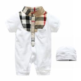 650614b4d3bd Children girls overall shorts online shopping - Baby Summer Wear Short  Sleeve Jumpsuits Plaid Lapel Boy