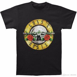Men T Shirt Gun Australia - Designer Shirts Casual Guns N Roses Men's Distressed Bullet Slim Fit T-shirt Size S To 3XL Men Short O-Neck Tee Shirts