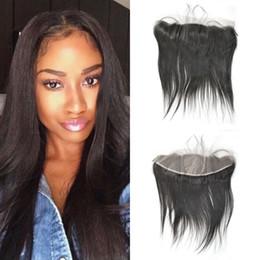 Silk Base Baby Hair Australia - Virgin Cambodian Human Hair 13x4 Straight Ear to Ear Silk Base Frontal with Baby Hair FDshine