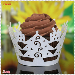 $enCountryForm.capitalKeyWord Australia - 50Pcs Lot Cup Cake Paper Little Vine Lace Laser Cut Cupcake Wrapper Liner Baking Cup Muffin Cake Tools Table Decoration 6ZC30