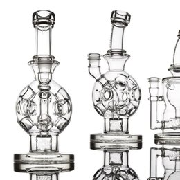 Fab ball online shopping - Exosphere Mother Ship Ball Rigs Glass Bongs Solid Glass Water Pipes Wax Smoking Pipes Fab Egg Hot Sale With Bowls