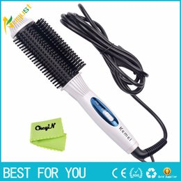 $enCountryForm.capitalKeyWord NZ - 2-in-1 Electric Hair Styling Tool Hair Straighter Comb + Wand Curler 110-240V Flat Iron Tourmaline Ceramic Iron Curling Brush 24