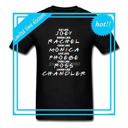 $enCountryForm.capitalKeyWord Australia - Friends T Shirt Custom Short Sleeve Men's Clothes Pp Lovers Cotton Crewneck Plus Size TV Funny T-shirts
