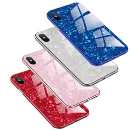 Hot Sales Iphone Case NZ - Hot sale Shell grain for iphone 6 case Magnetic cover for iphone x case Tempered Glass Metal Bumpers for Goophone phone case