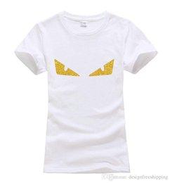 Venta al por mayor de Little Monster Eyes Impreso lindo Tops Tee verano 100% algodón Moda harajuku Camisetas para mujeres divertido marca kawaii punk