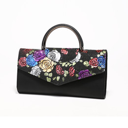 $enCountryForm.capitalKeyWord NZ - bags for women 2018 PU leather Ethnic style hand holding fashion handbag Ladies bags woman Embroidered rose evening bags