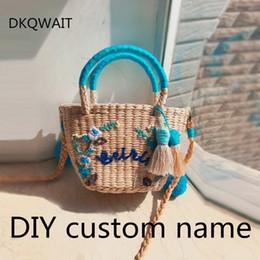 DIY Custom leers Women Straw Handbag Fashion Flower Hit Color Shoulder Bags  Shoulder Bag Large Big Leer Tassel Straw Beach discount straw handbags totes ddf75b8955c4a