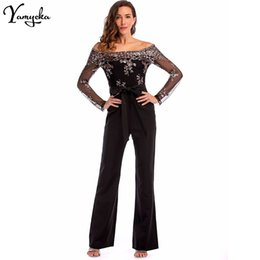 Elegant Jumpsuits Sleeves Australia - Sexy Sequins Patchwork Rompers Womens Jumpsuit Baby Women 2018 Summer Elegant Long Sleeves Backless Party Playsuits Overalls New