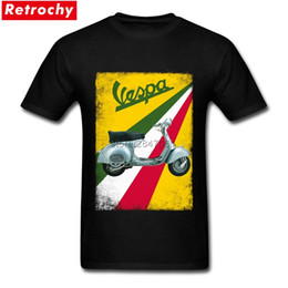 shirts designing NZ - 2017 Italia Motorcycle Tees Vintage Vespa T Shirt Custom Cotton Short Sleeve Men Latest Design Tshirts XXXL Summer T Shirts