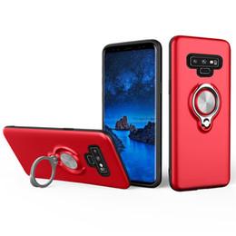 360 graus titular do anel magnético casos de telefone celular para iphone xs max samsung galaxy s10 plus a10 m20 m30 magro armadura híbrida cobre venda por atacado
