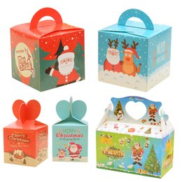 Wholesale 50pcs New Year Christmas Packing Box Cupcakes Dessert Cookies Candy Gift Xmas Apple Box Festival Present Bag cm