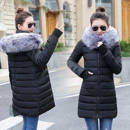 0bce03131710 Fake Fox Fur Collar Winter Coat Women 2018 New Fashion Winter Jacket Women  Parka Long Down Jacket Female Warm Outerwear S18101501