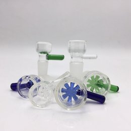 Wholesale 18mm mm glass bowl Clear Blue Green Female Male Honeycomb glass percolator bowls for bongs glass water pipes
