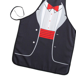 Wholesale New Novelty Cooking Kitchen Red Bowknot Print Sexy Apron Baking Present Pinafore Chef Funny cute kitchen aprons