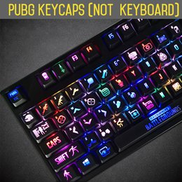 Cherry meChaniCal keyboard online shopping - PUBG keycaps Backlight PLAYERUNKNOWNS BATTLEGROUNDS Mechanical Keyboard Keys ANSI Thickened Edition Key cap For Cherry mx