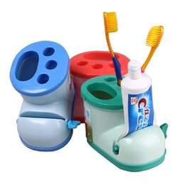 Discount boot stands - Creative Boot Shape Toothbrush Holder with Toothpaste Squeezer Multifunctional Cute Tooth Brush Toothpaste Stand Holder