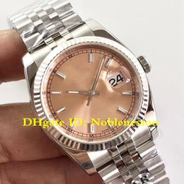 Discount mens swiss mechanical watch - 6 Color AR Factory New V2 Version 904L Steel Mens DATEJUST 116234 Jubilee Pink Index Dial 36MM Swiss ETA 3135 Movement A