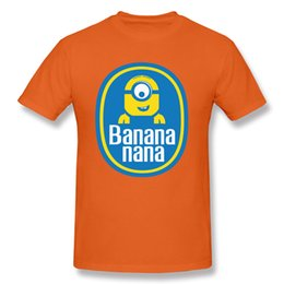 Banana Nana T-shirt Minions T-shirt Hommes Noir Vêtements Funny Quote T-shirt 3D Cartoon Tops T-shirts Plus La Taille