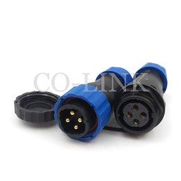 Conector de cable de alimentación a prueba de agua SD20 4pin, 25A 250V Cable de alto voltaje de enchufe directo a cable Conectores electrónicos de aviación, IP68 LED Plug en venta